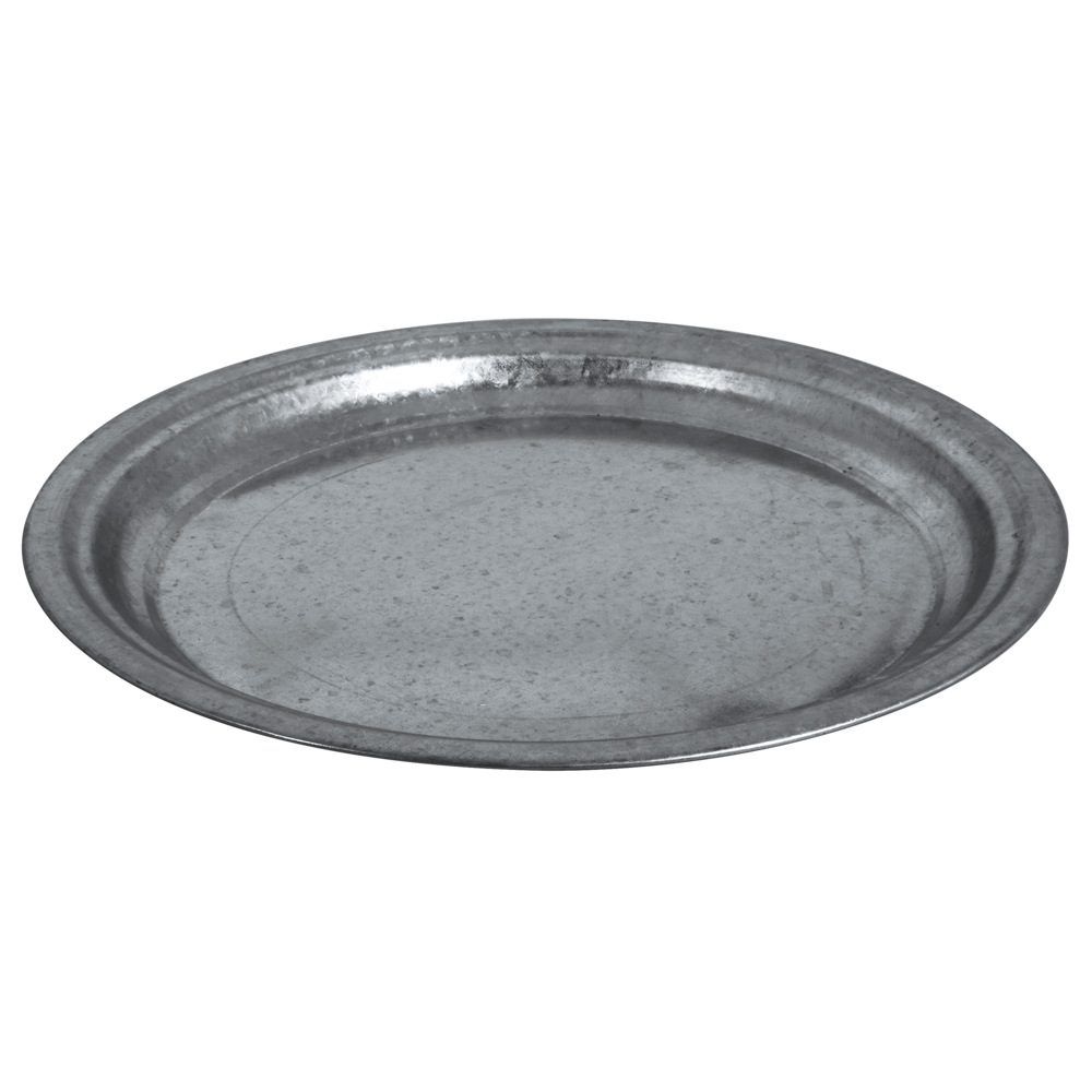 Zink-Dekoteller, 36cm ø, 2,5cm