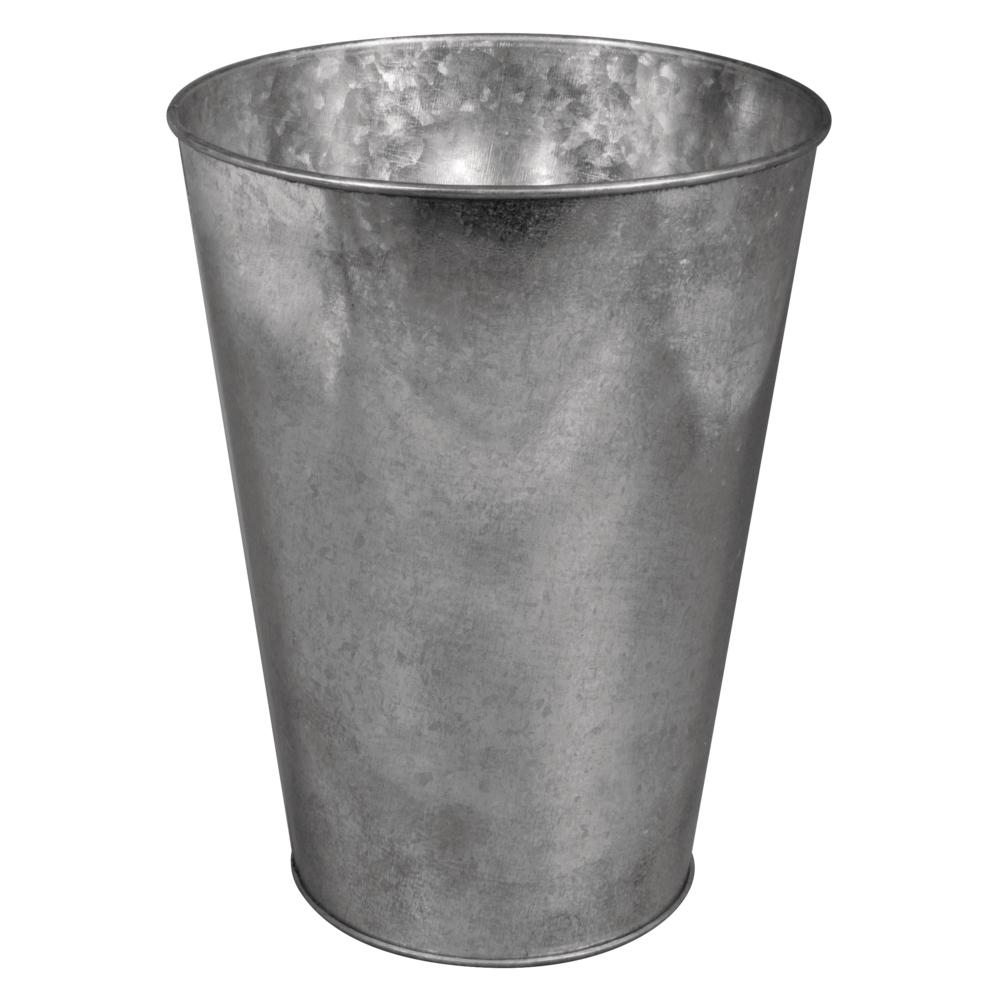 Zink-Dekovase, 10-15cm ø, 20cm