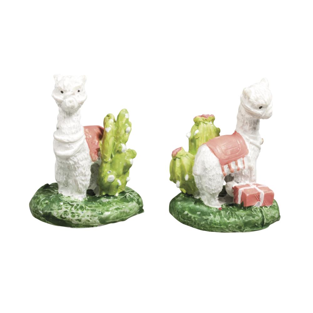 Polyresin Lama, 2 Designs, 3,1x3,1x4cm, PVC-Box 2Stück