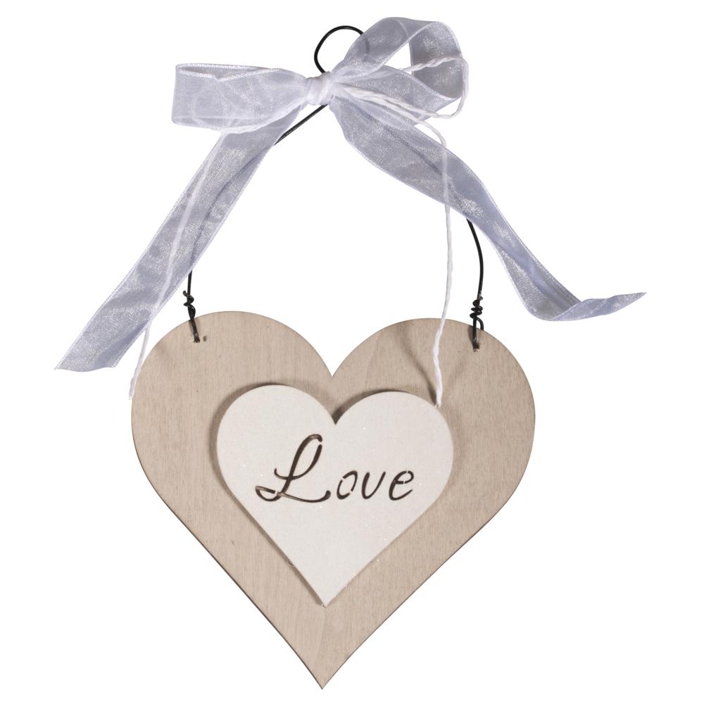 MDF-Anhänger Herz Love, 12x0,5x20,5cm, SB-Btl 1Stück
