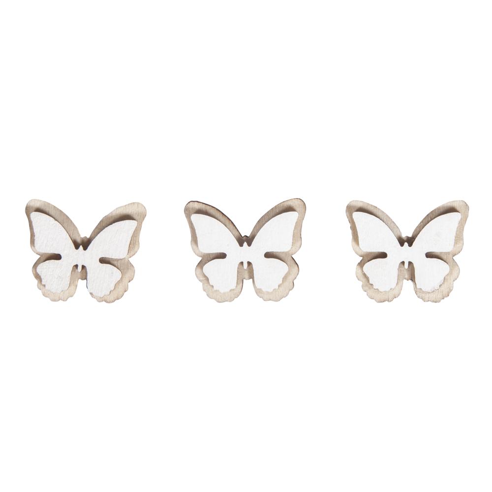 Holz-Streuteile Schmetterling, 2,3x1,9cm, SB-Btl 10Stück