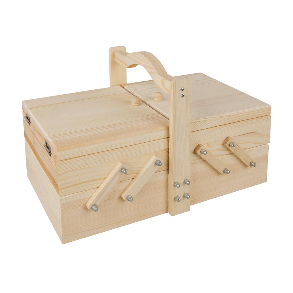 Holz-Nähkästchen, FSC mixed credit, 34,5x20x21,5cm