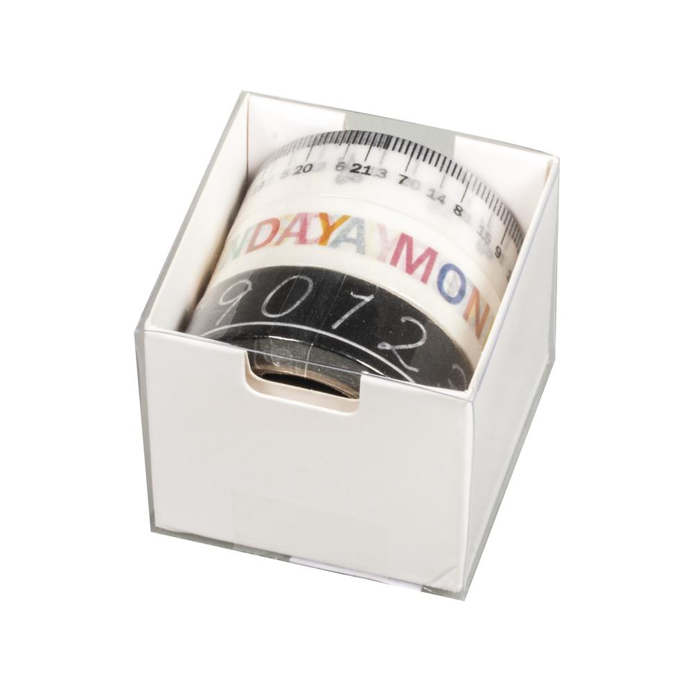 Washi Tape Set Organizer, 15mm, 3 Designs á 10m, Box 30m