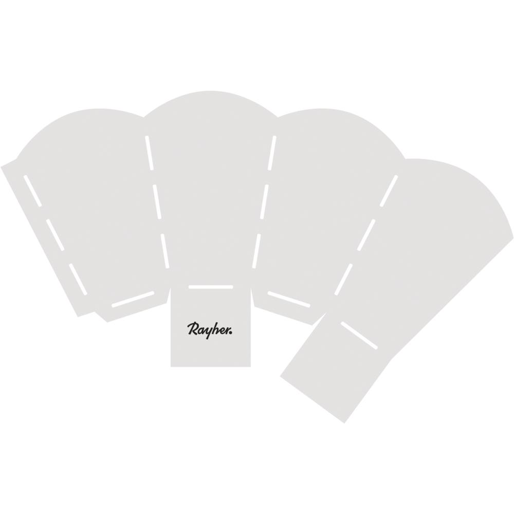 Papierschablone Popcorn-Tüte, fertige Box 4,5x4,5x11cm, SB-Btl 1Stück