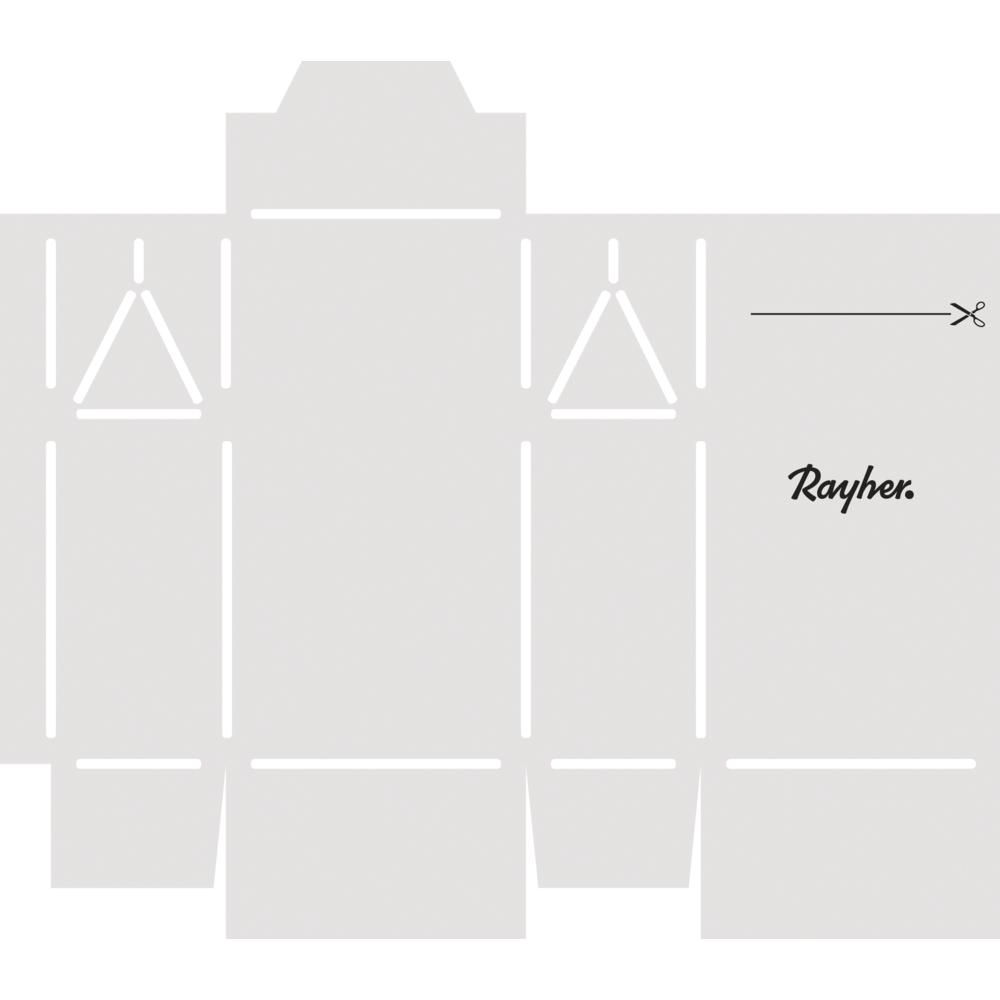 Papierschablone Geschenkschachtel Mini, fertige Box 6x3,5x11cm, SB-Btl 1Stück