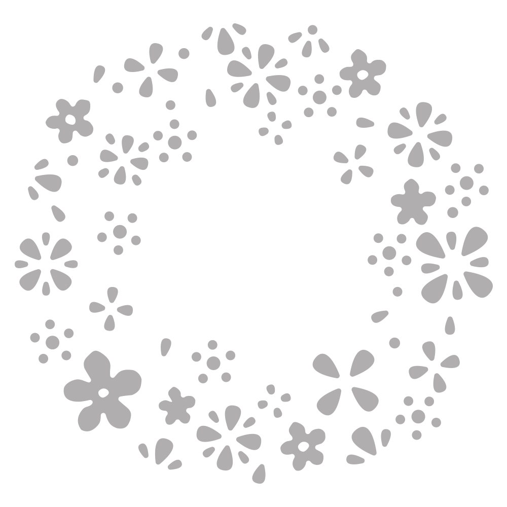 Stanzschablone: Blütenkranz Negativ, ca. ø 7,5cm, SB-Btl 1Stück