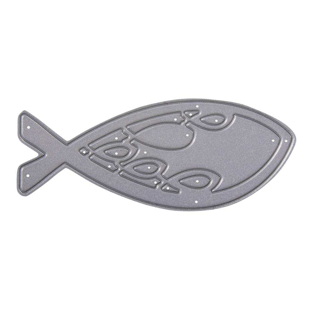 Stanzschablone: Fisch, 8x3,1cm, SB-Btl 1Stück