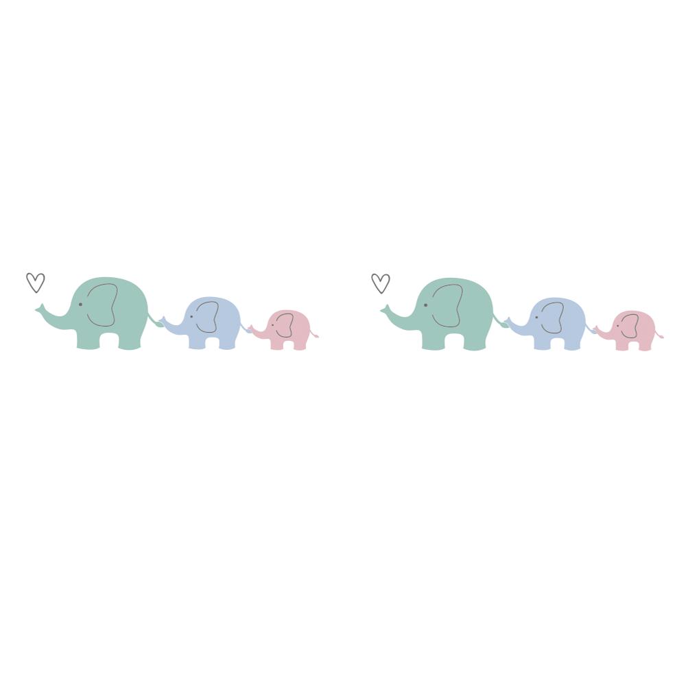 Washi Tape Elefantenfamilie, 15mm, RL 10m