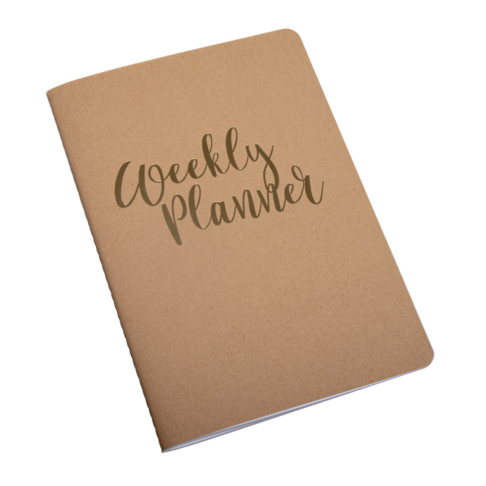Booklet Weekly Planner,FSC Mix Credit, A5, 60 Blatt, 80 g/m², kraft