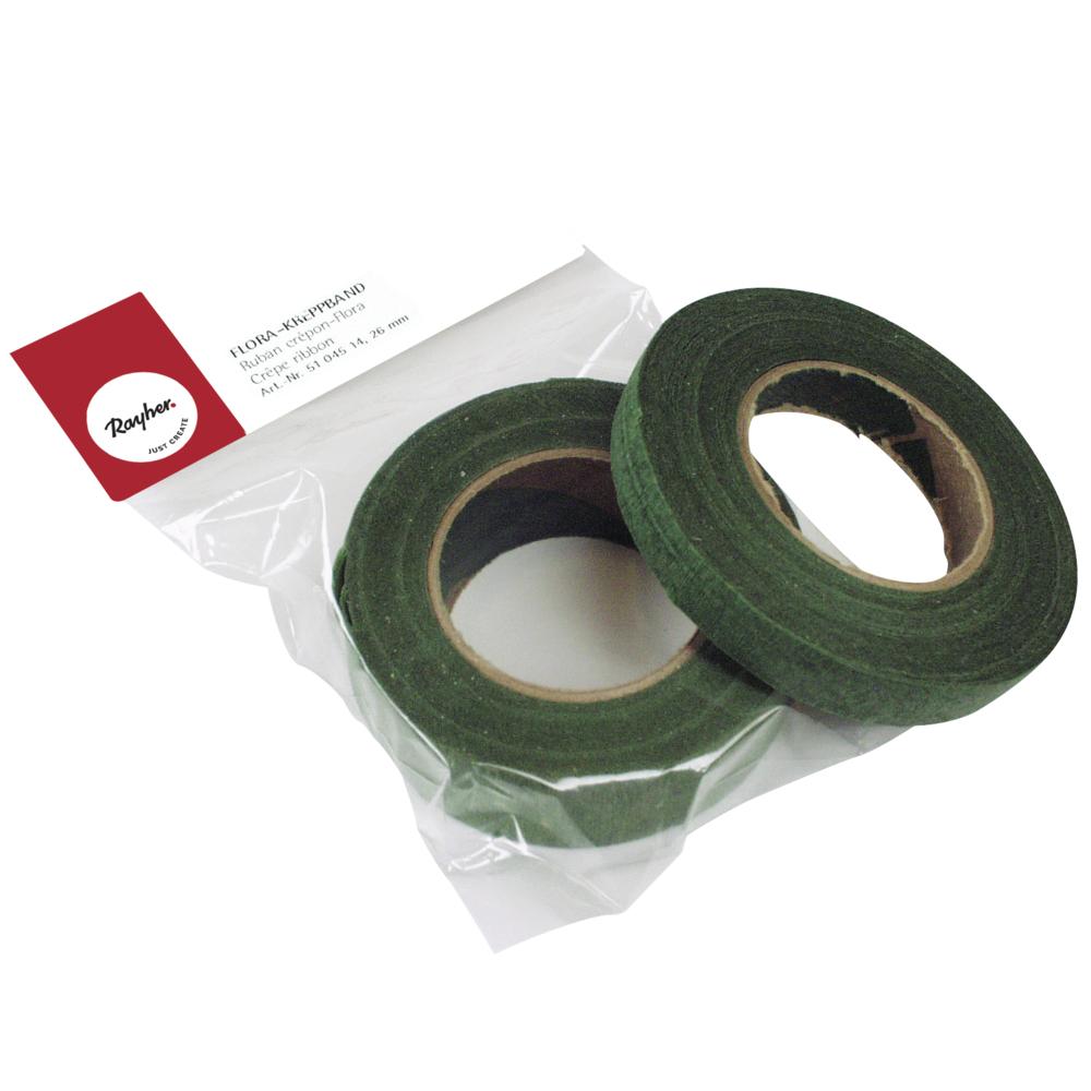 Flora-Kreppband, 27,5m, 13mm breit, SB-Btl 1Rolle