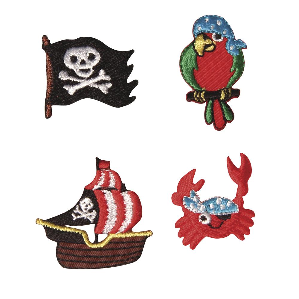 Stickmotive Piraten, 2,5-3,5 cm, SB-Btl. 4 Motive