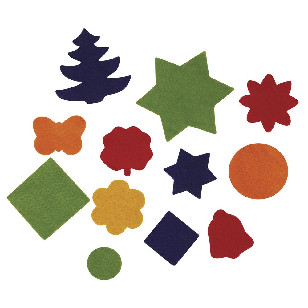 Filzzuschnitte, verschiedene Formen, 2,5 - 6 cm, SB-Btl. 100 Stück