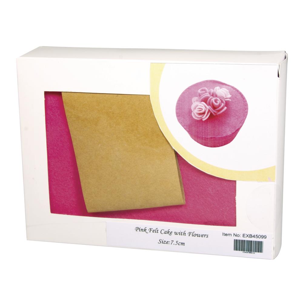 Filz Bastelpackung Box, 13cm ø, Höhe 7,5cm