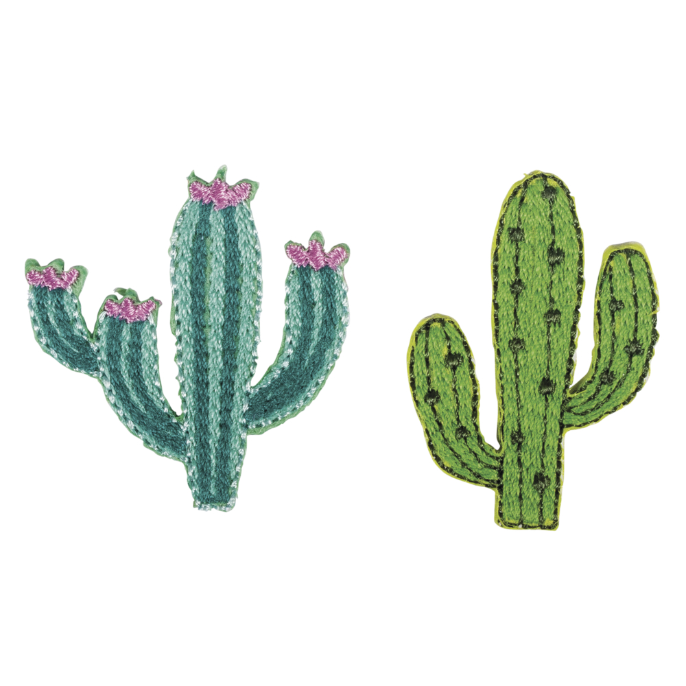 Patch Cactus, 2,8-3,5x4cm, z.Aufbügeln, SB-Btl. 2Stück
