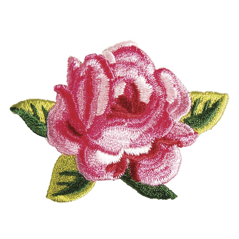 Patch Rose, 6,3x5,4cm, zum Aufbügeln, SB-Btl. 1Stück