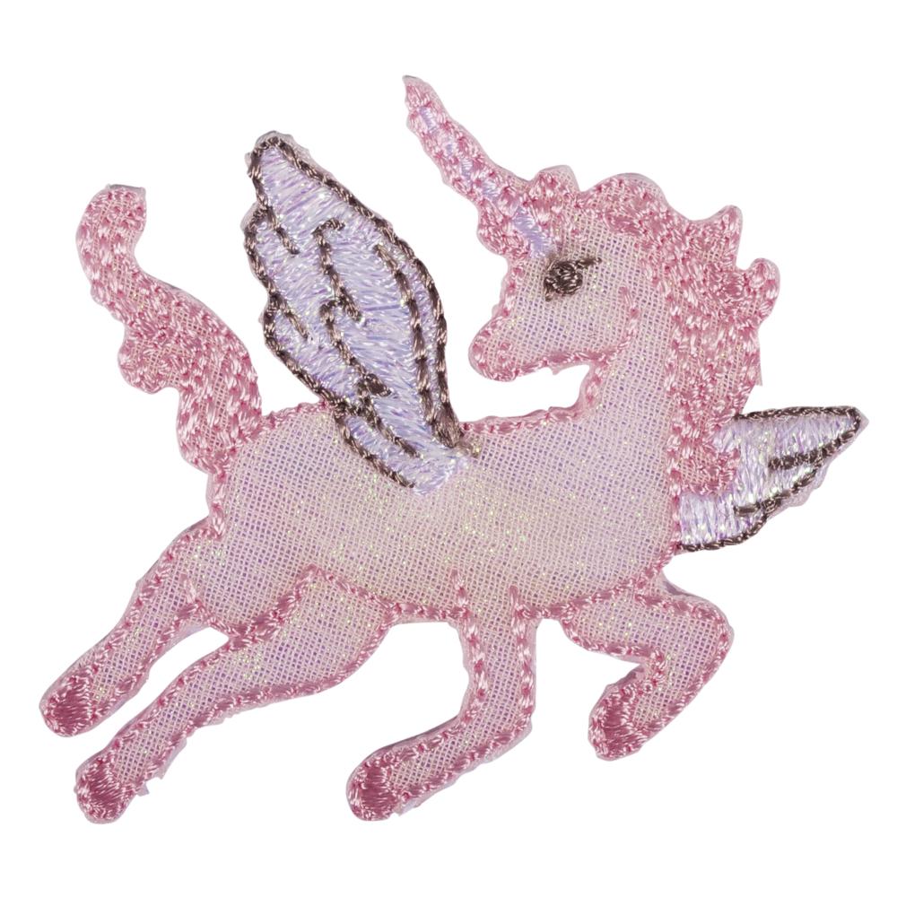 Patch Unicorn, 5x4,5cm, zum Aufbügeln, SB-Btl. 1Stück