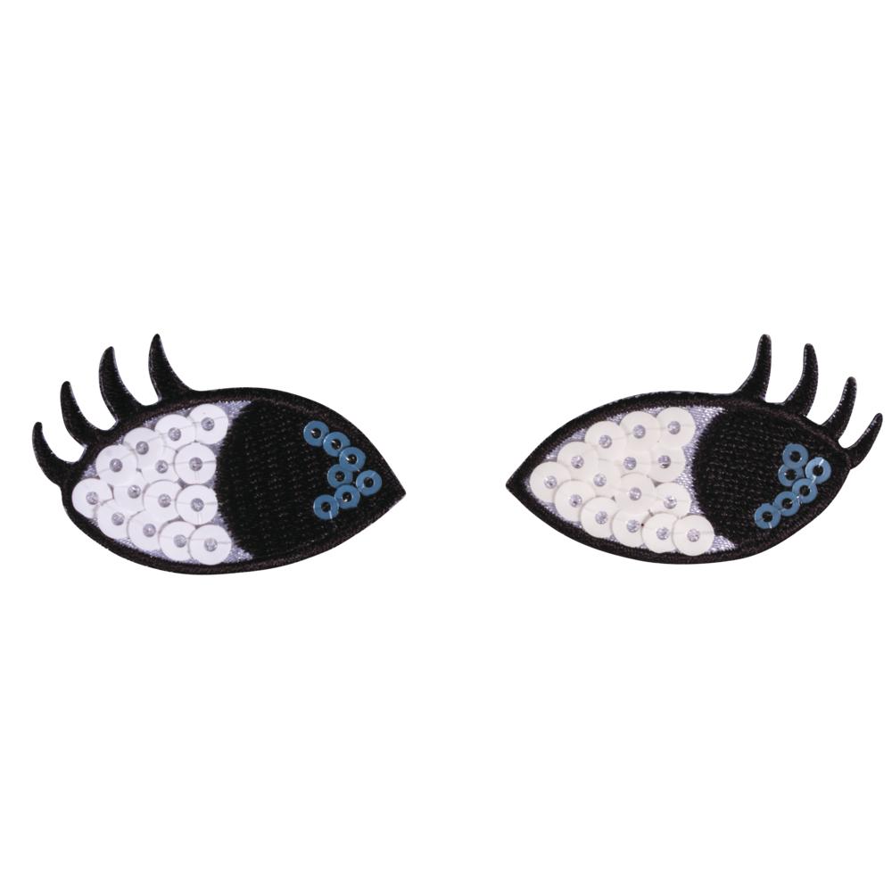 Patch Eyes, 4,5x2,8cm, zum Aufbügeln, SB-Btl. 1Paar