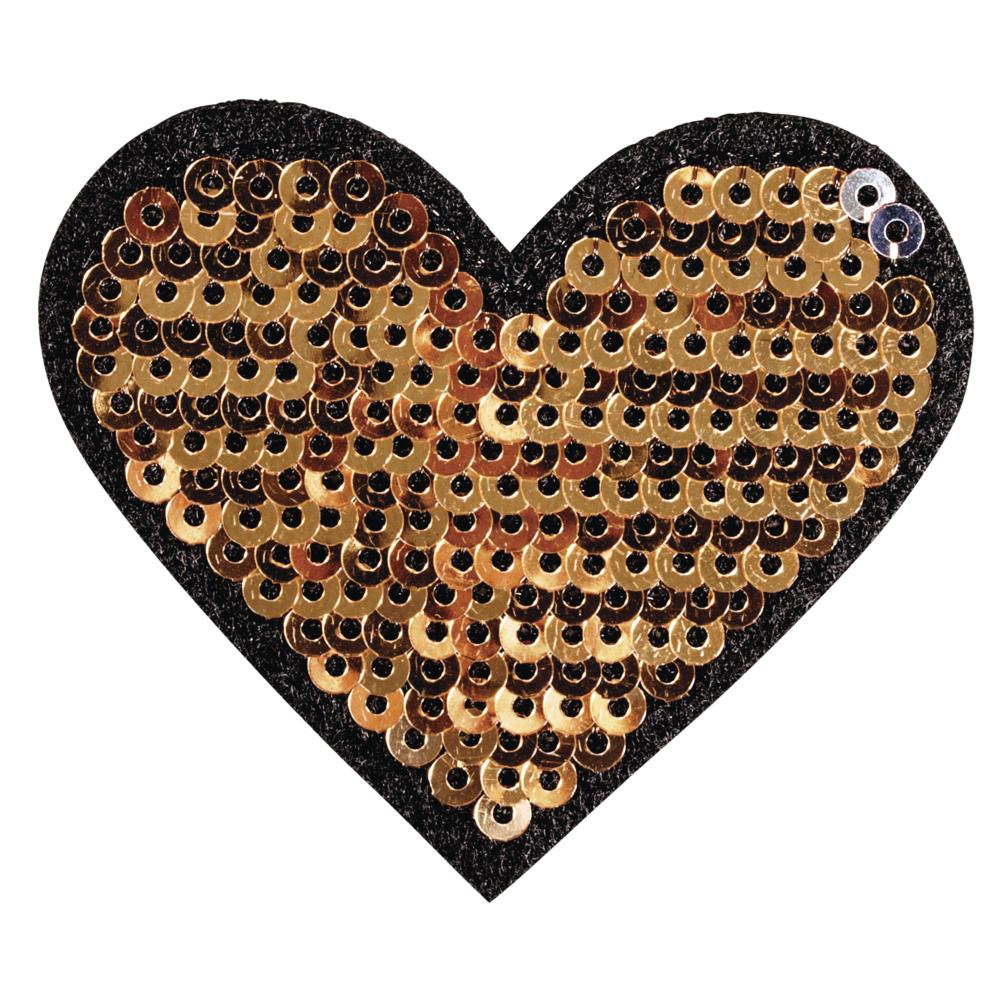 Patch Heart, 5x4,5cm, zum Aufbügeln, SB-Btl. 1Stück