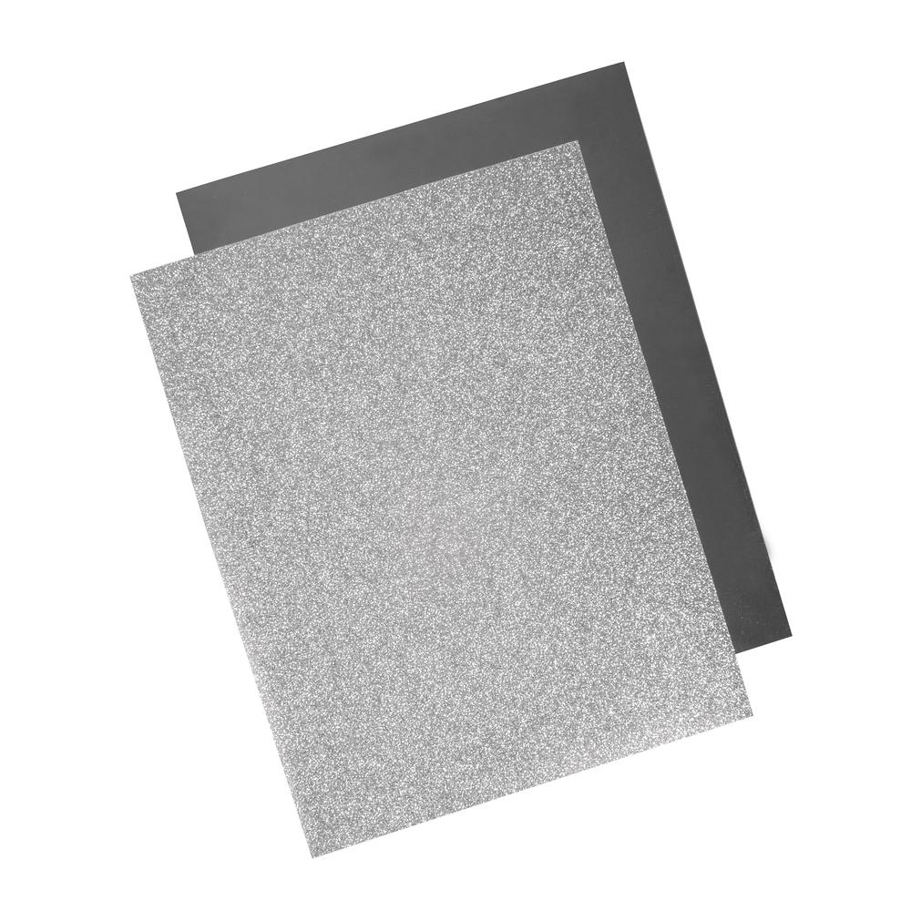 Metallic Bügel-Transferfolie, 21,5x28cm, 2-fach sort., SB-Btl 2Bogen