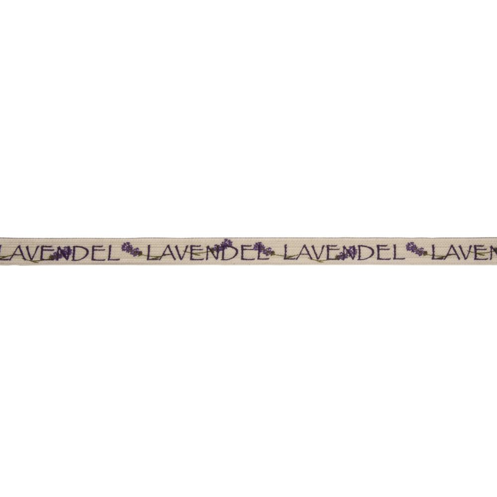 Baumwollband Lavendel, 15mm, Rolle 15m