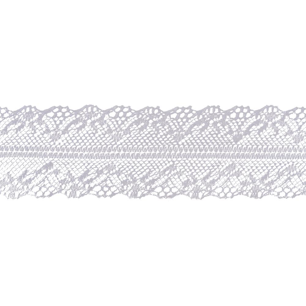 Spitzenband, 40mm, Rolle 20m, weiß