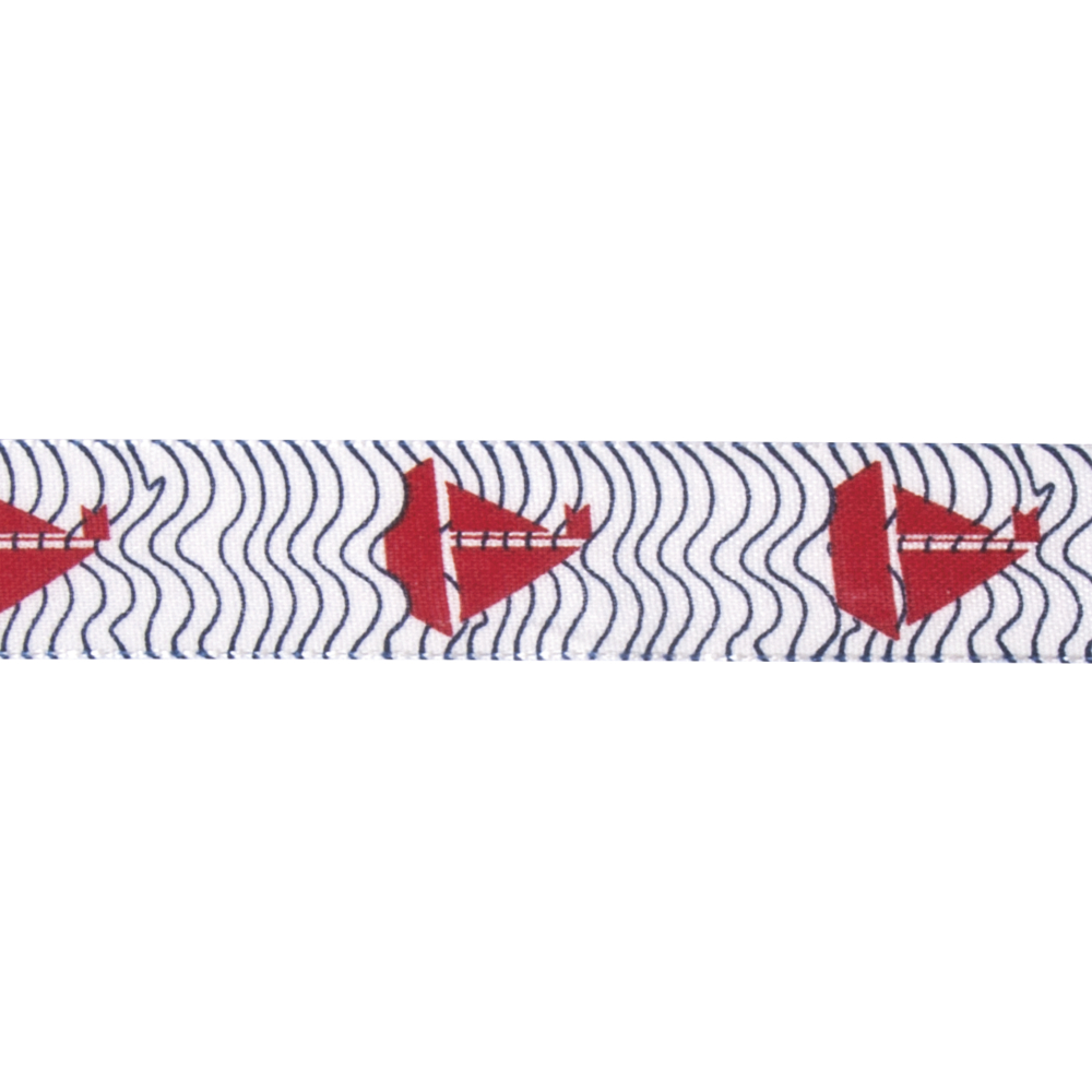 Dekoband Segelboot, 25mm, Rolle 20m