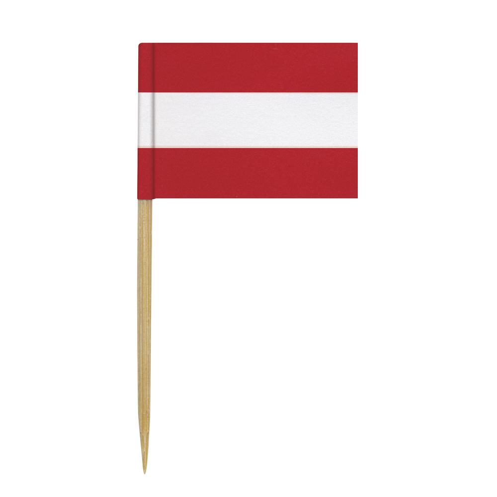 Flaggenpicker-Österreich, 6,5 cm, SB-Btl. 10 Stück