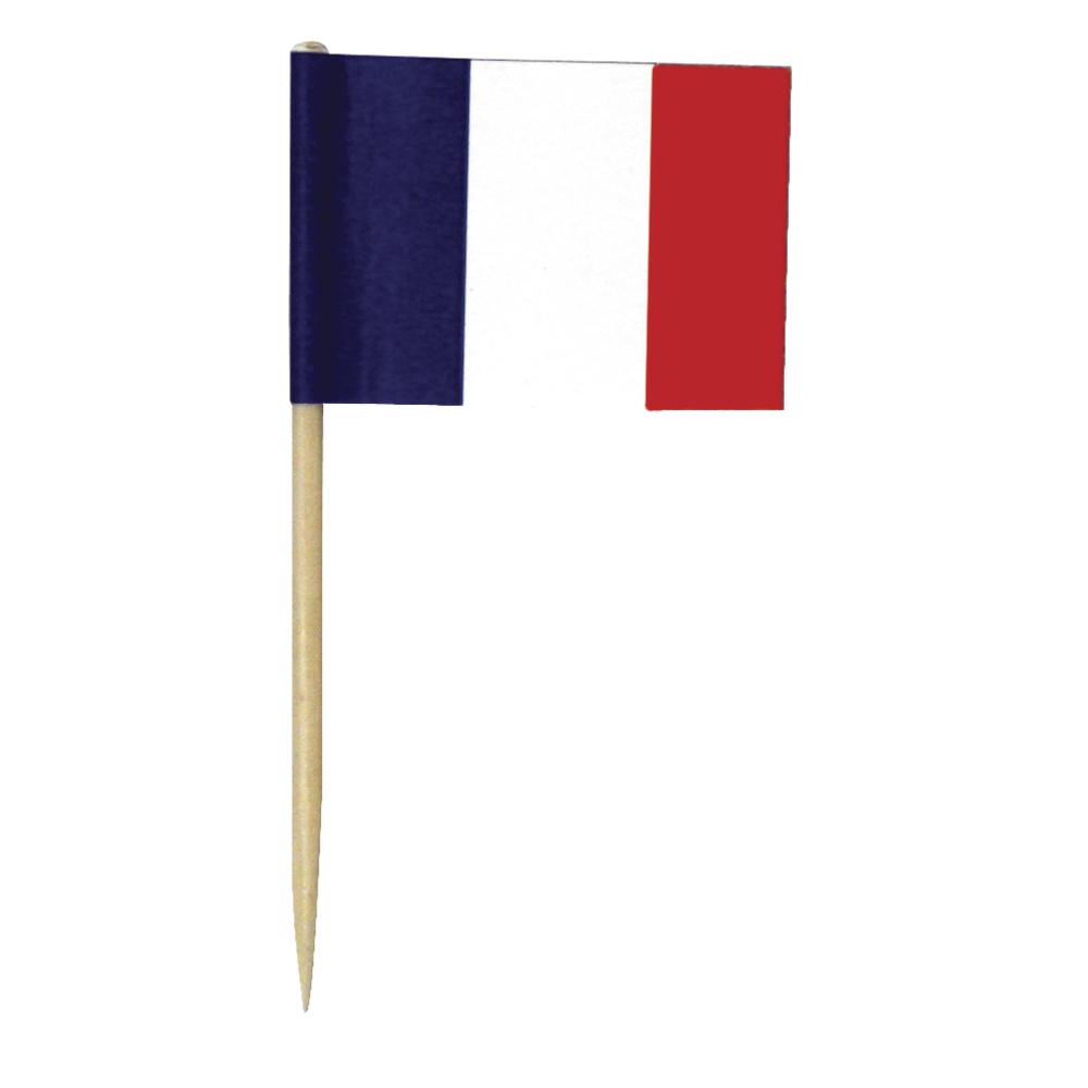 Flaggenpicker-Frankreich, 6,5 cm, SB-Btl. 10 Stück