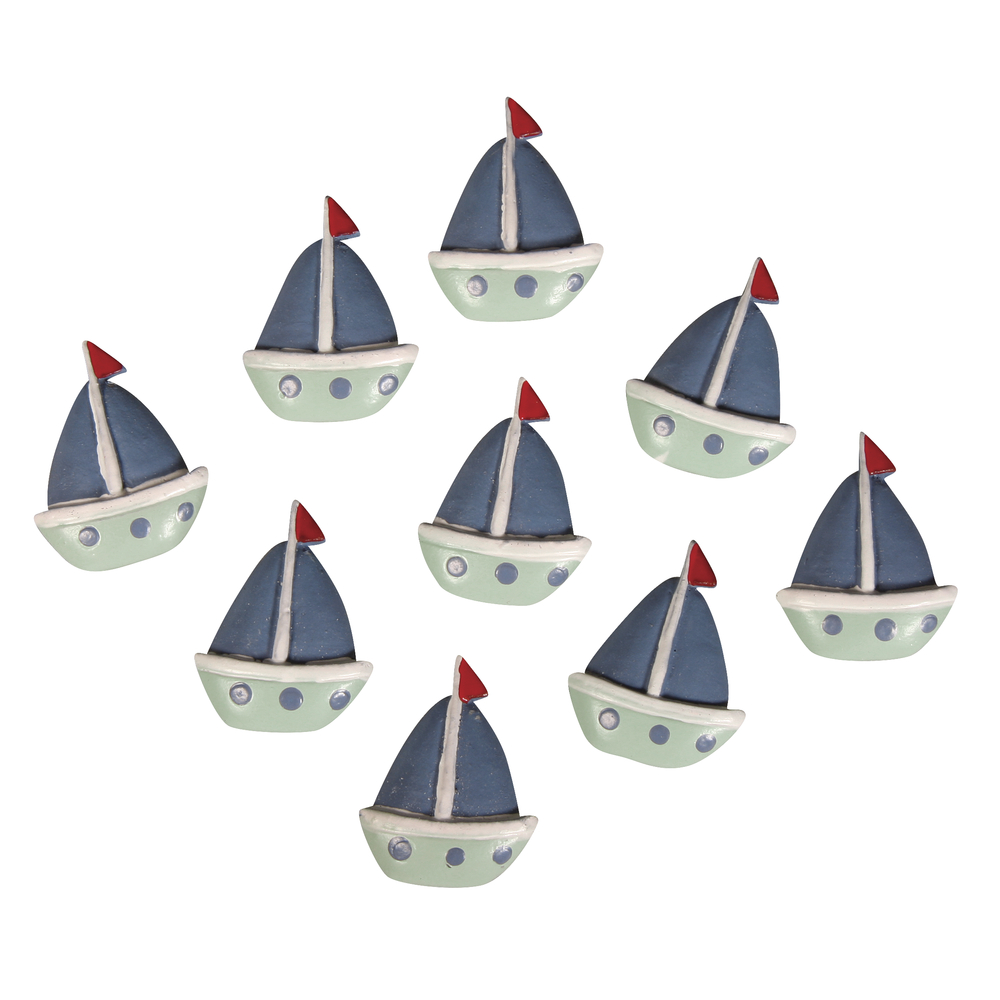 Polyresin Boote, 2,8x2,2cm, SB-Btl 9Stück