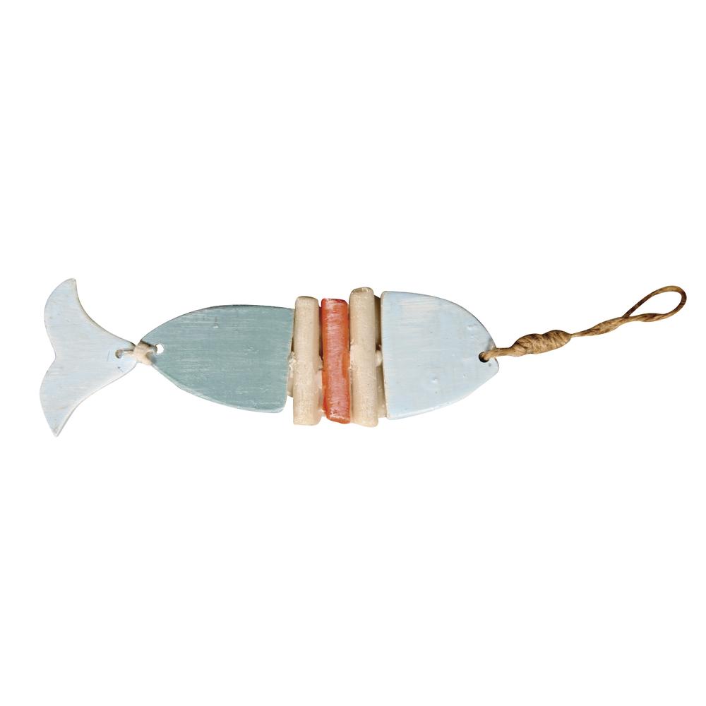 Polyresin Fisch mit Jute-Hänger, 10,5x3,5x0,5cm, SB-Btl 1Stück