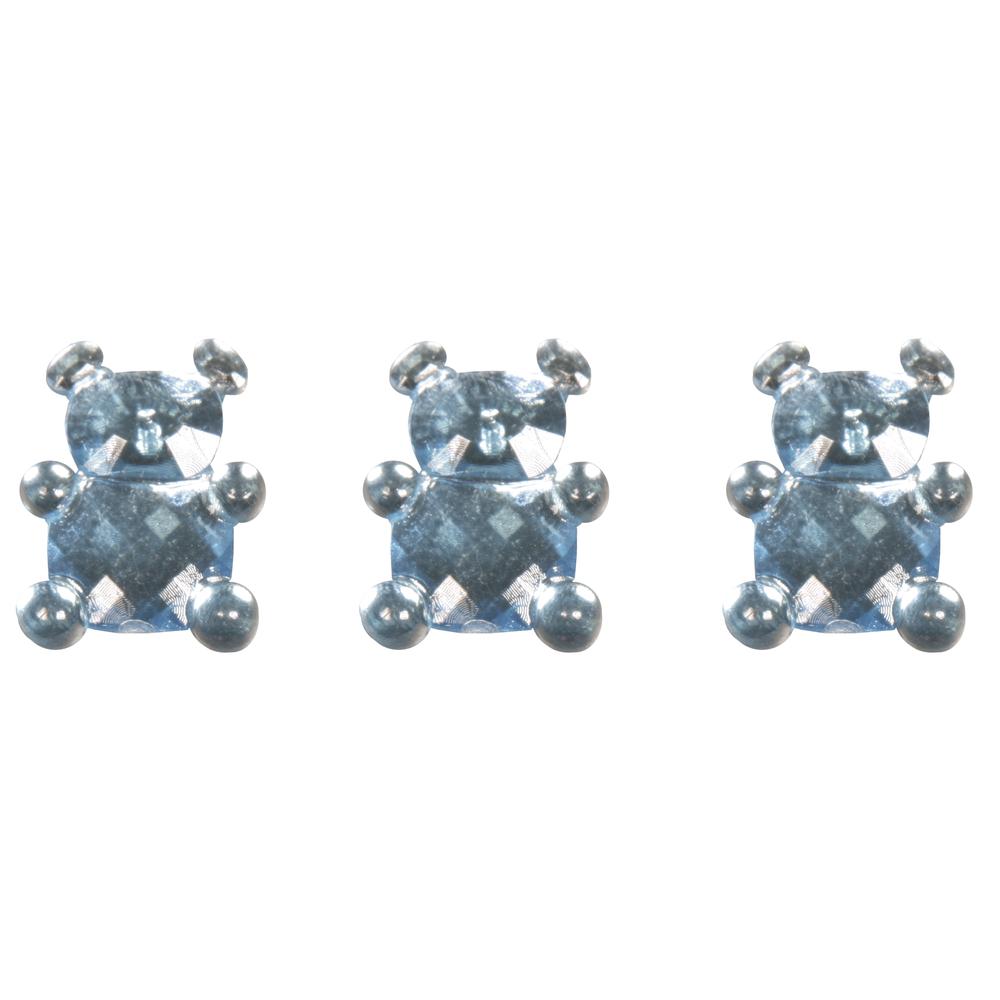 Acryl Teddybär, 1,1x1,5cm, SB-Btl 24Stück