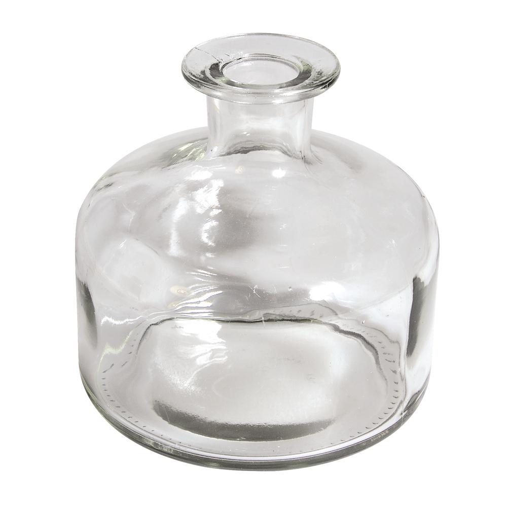 Glasvase, bauchig, 12x12x12,5cm, 620ml, Öffnung ø2,3cm