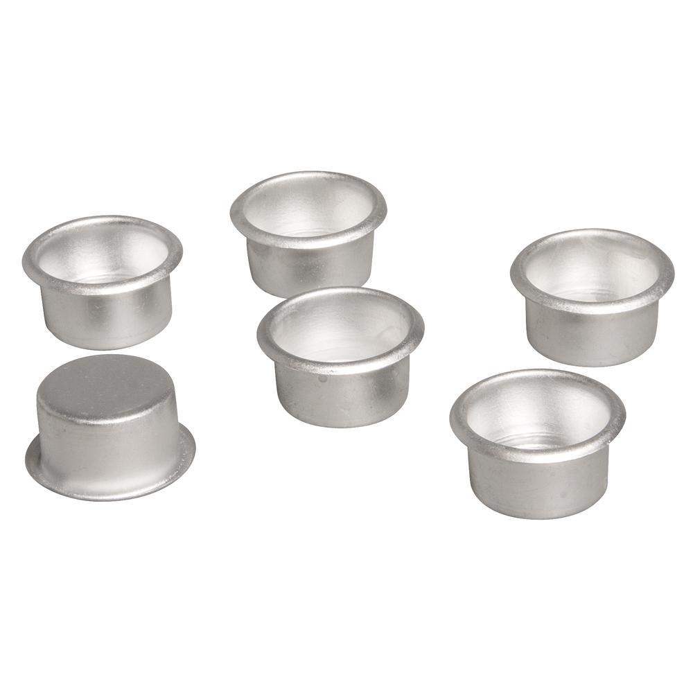 Metall-Kerzenhalter, 2,2cm ø, Box 6Stück