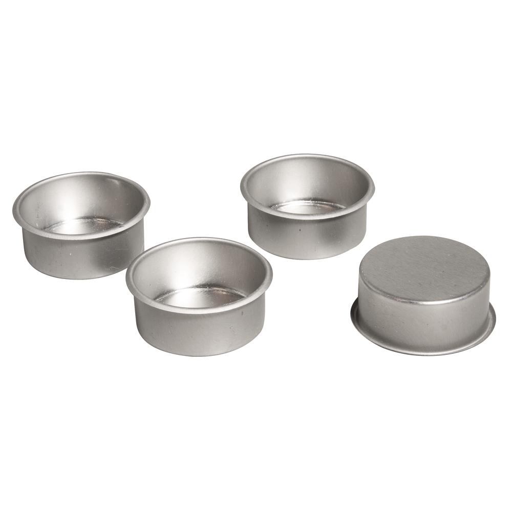 Metall-Teelichthalter, 4,1cm ø, Box 4Stück