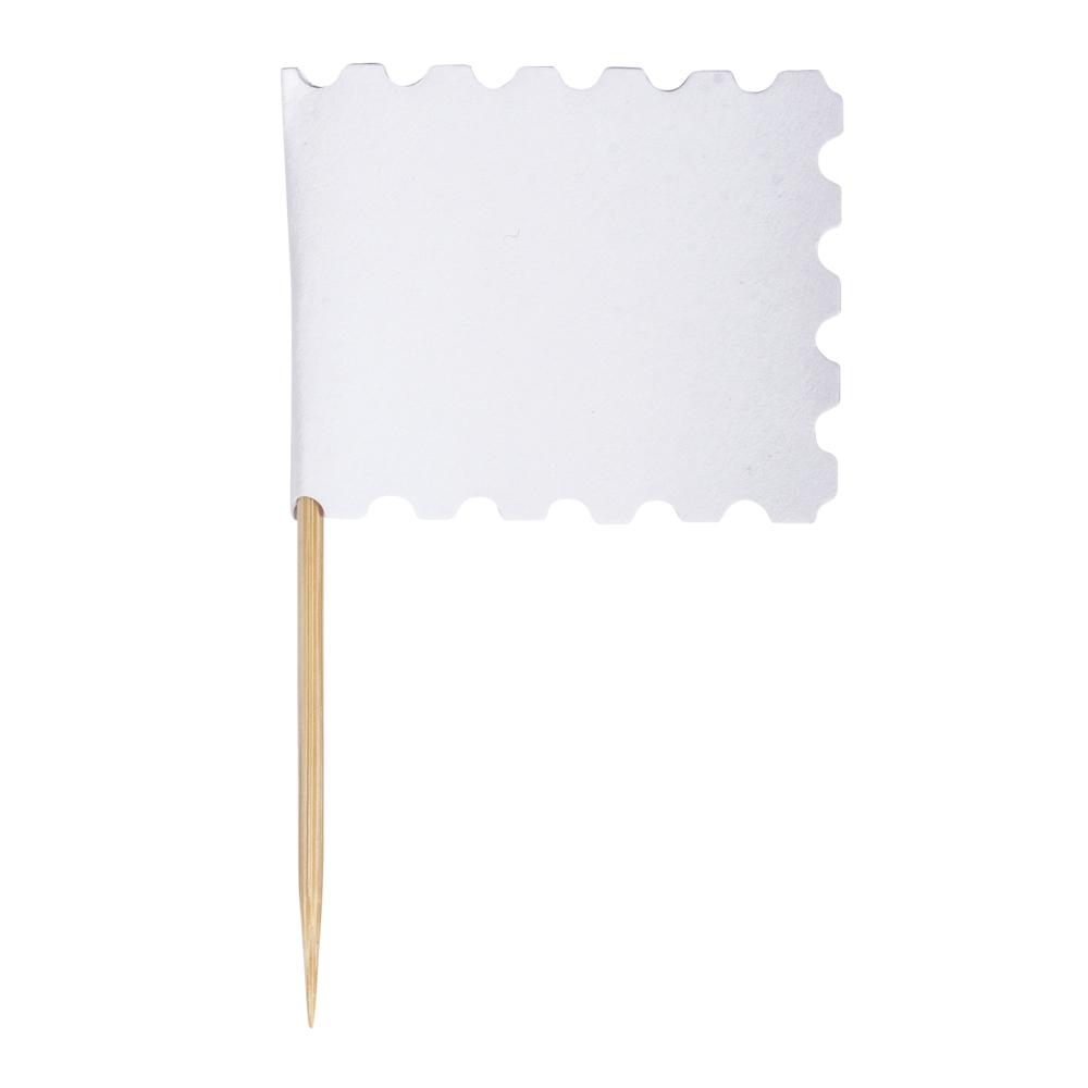 Flaggenpicker mit Zierrand, 7,5cm, Flagge: 4,5x3,5cm, SB-Btl 10Stück