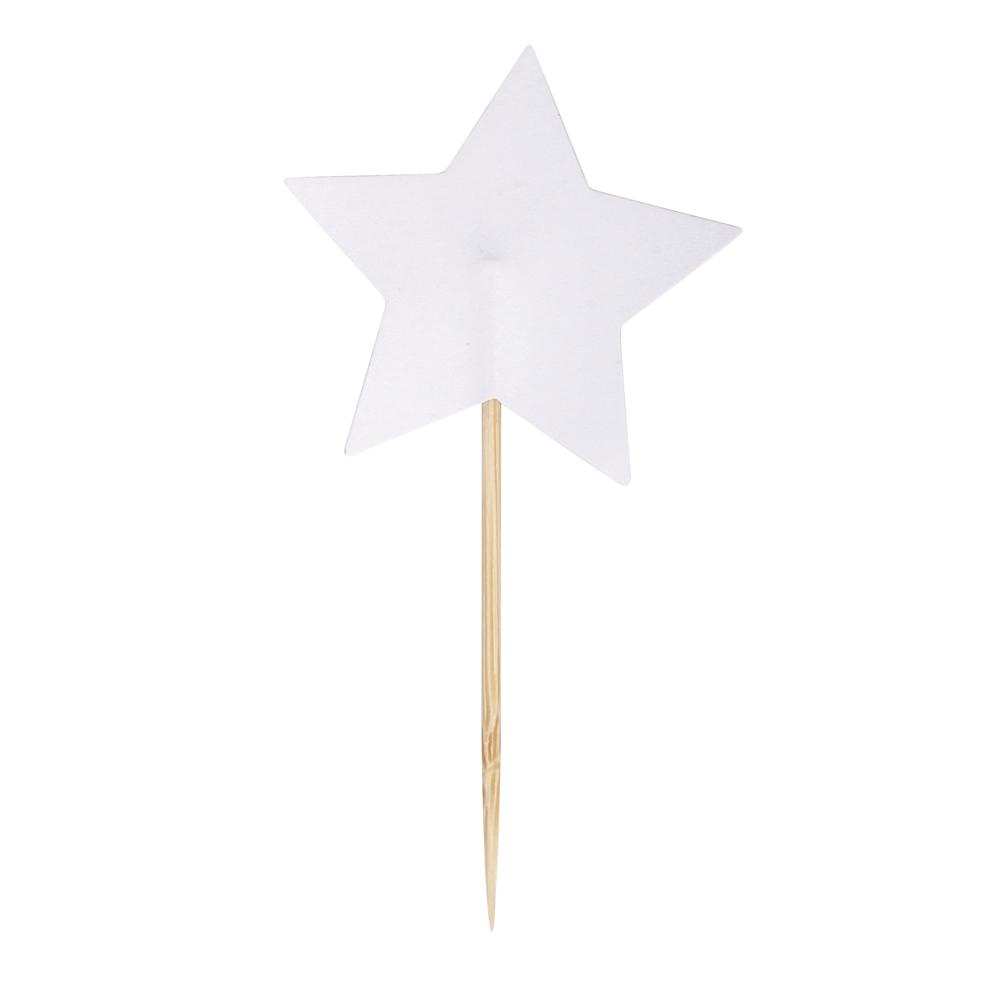 Sternpicker, 8cm, Stern: ø4,5cm, SB-Btl 10Stück