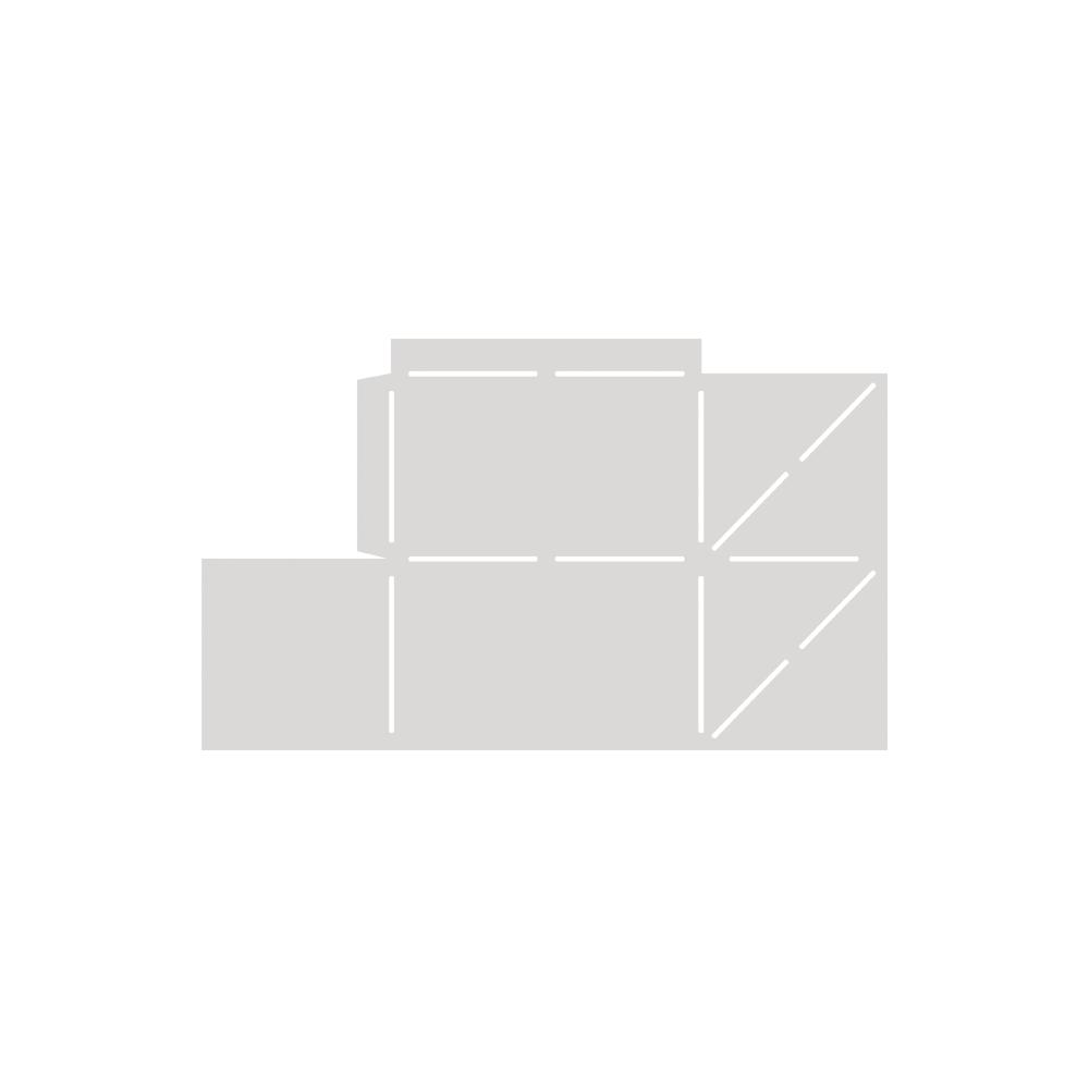 Papierschablone, Präsent-Box, 22x12cm, SB-Btl 1Stück