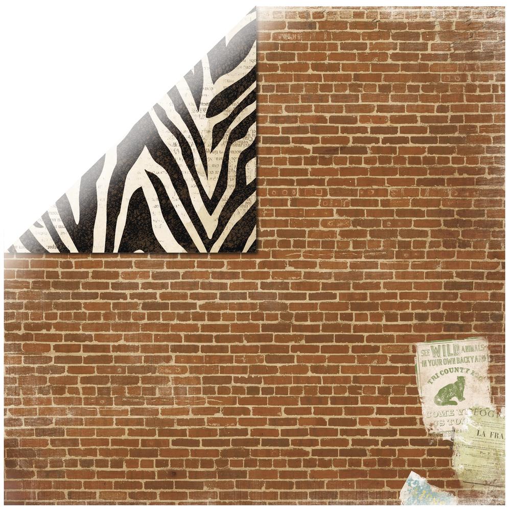 Scrapbookingpapier Safari Jungle, 30,5x30,5cm, 190g/m2