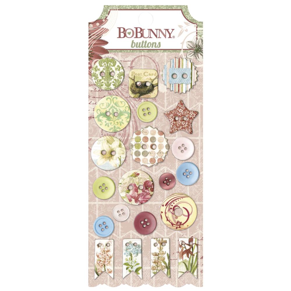 Buttons Garden Journal, sortiert, SB-Karte