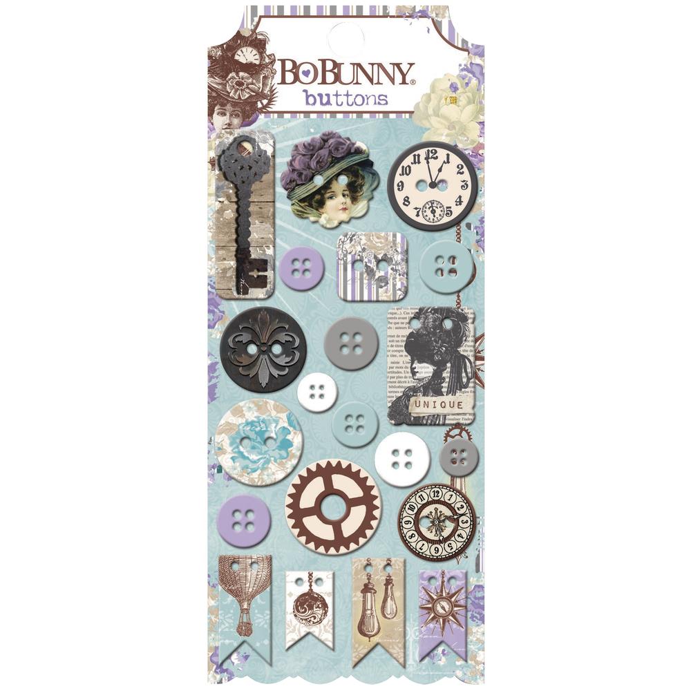 Buttons Penny Emporium, sortiert, SB-Karte