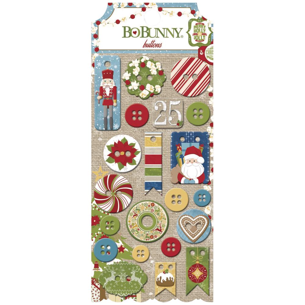 Buttons Dear Santa, sortiert, SB-Karte