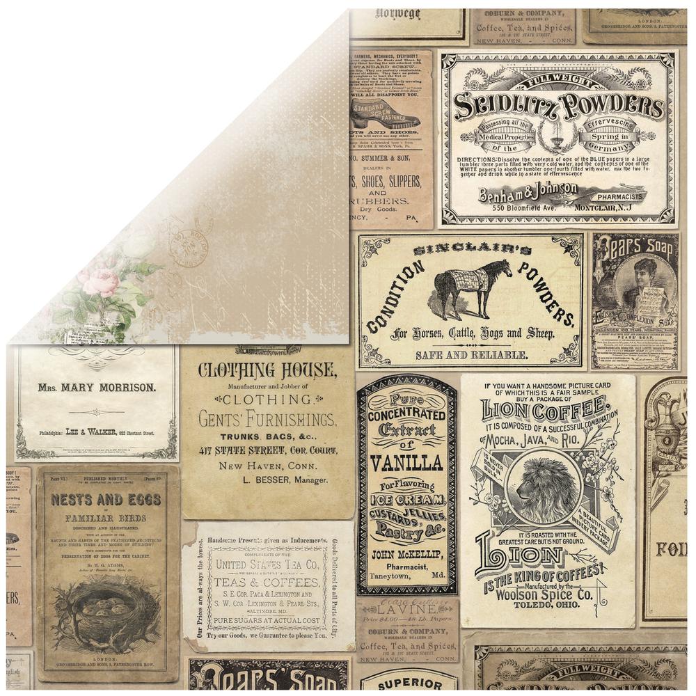 Scrapbookingpapier Soirée Boutique, 30,5x30,5cm, 190g/m2