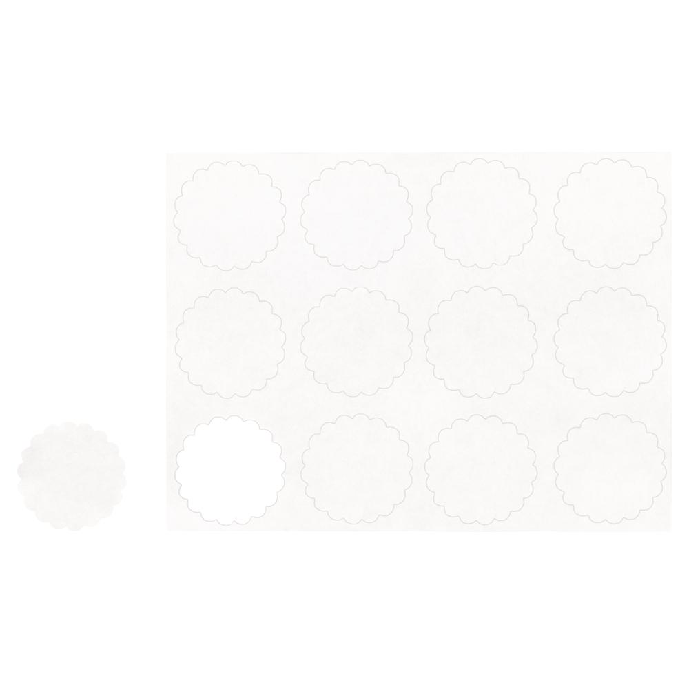 Blanko-Sticker, 3,5cm ø, SB-Btl 12Stück