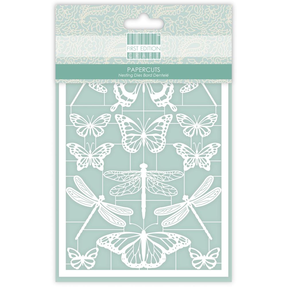 First Edition Paper Cuts- Butterflies, SB-Btl 14Stück