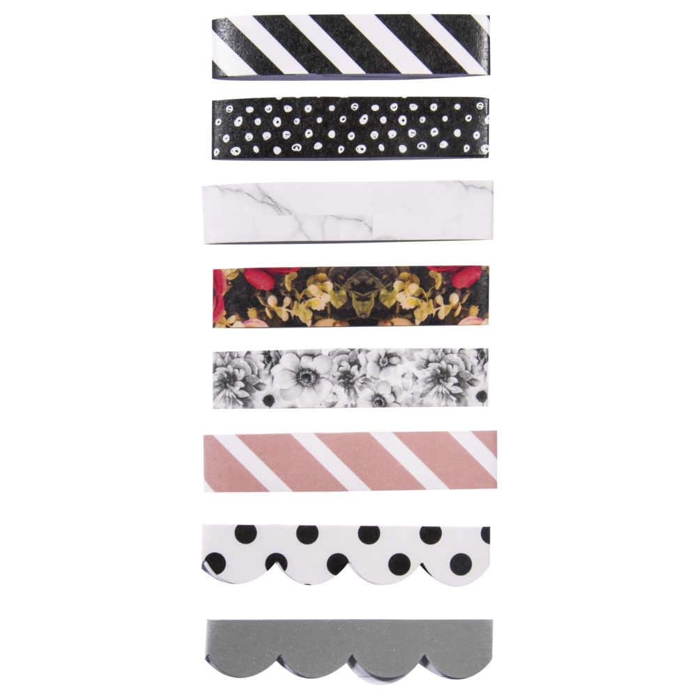 Paper Tapes, 8 Designs, FSC MixCred, 300x15mm, selbstklebend, SB-Btl 8Stück