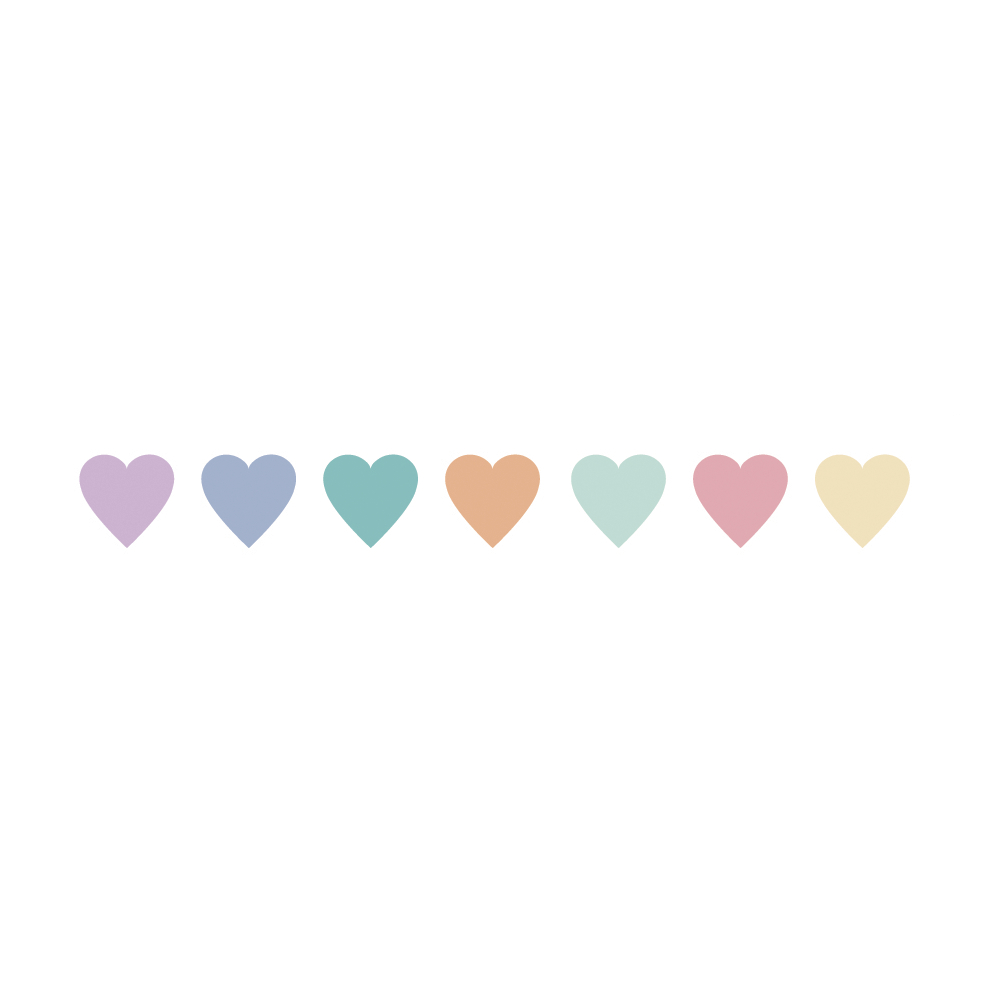 Washi Tape Candy Hearts, 15mm, Rolle 10m