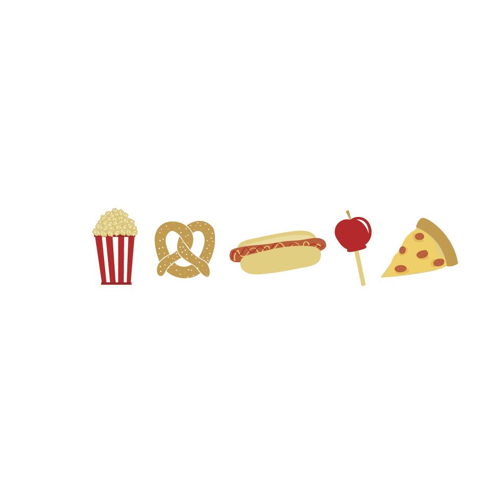 Washi Tape Yummy Snacks, 20mm, Rolle 10m