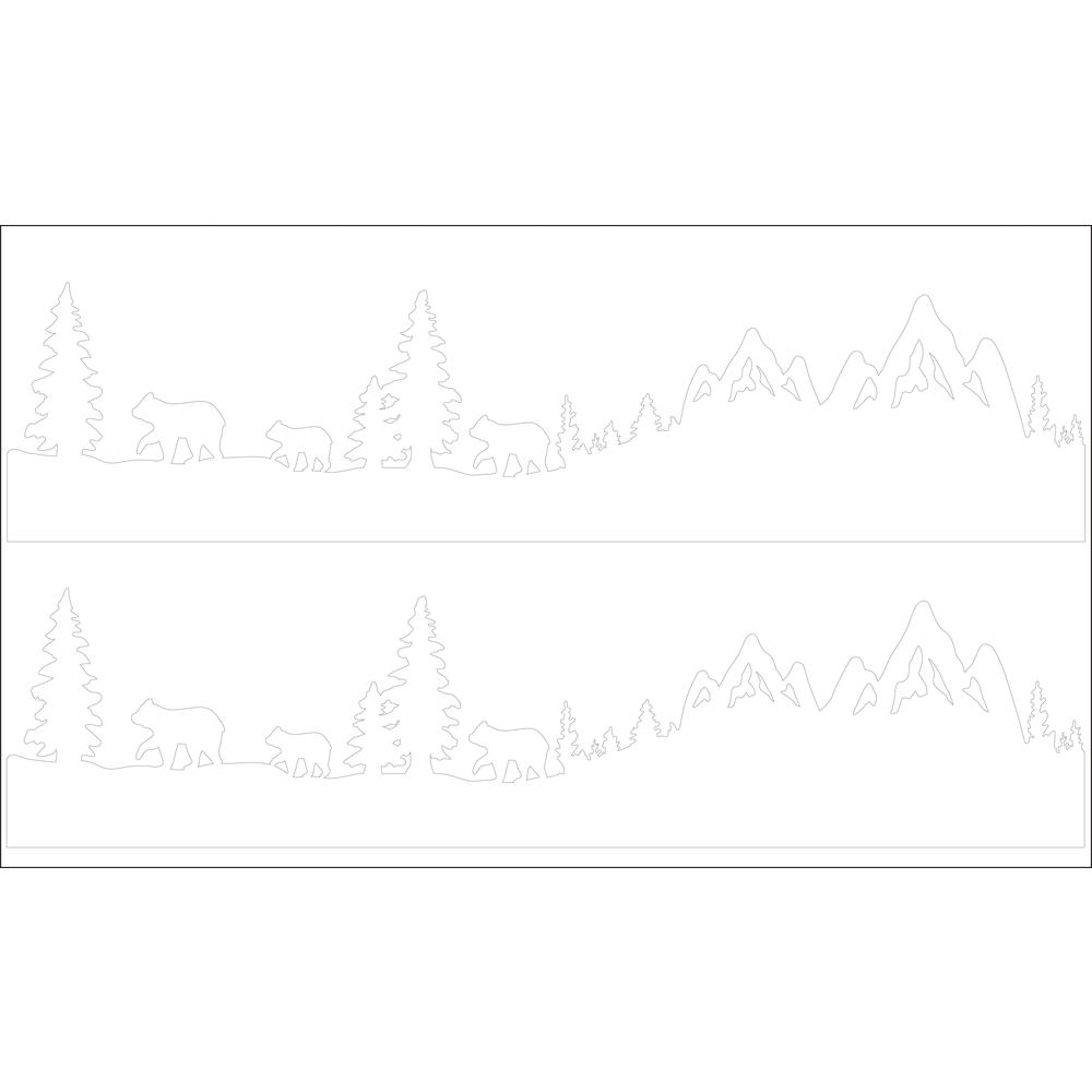 Deko-Abziehmotive Bärenfamilie, 17x4cm, 2 Silhouetten, SB-Btl 2Bogen, weiß