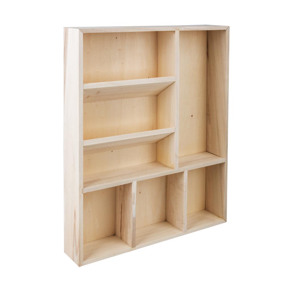 Holz Setzkasten, FSC Mix Credit, 30x38x5,2cm, 7 Fächer