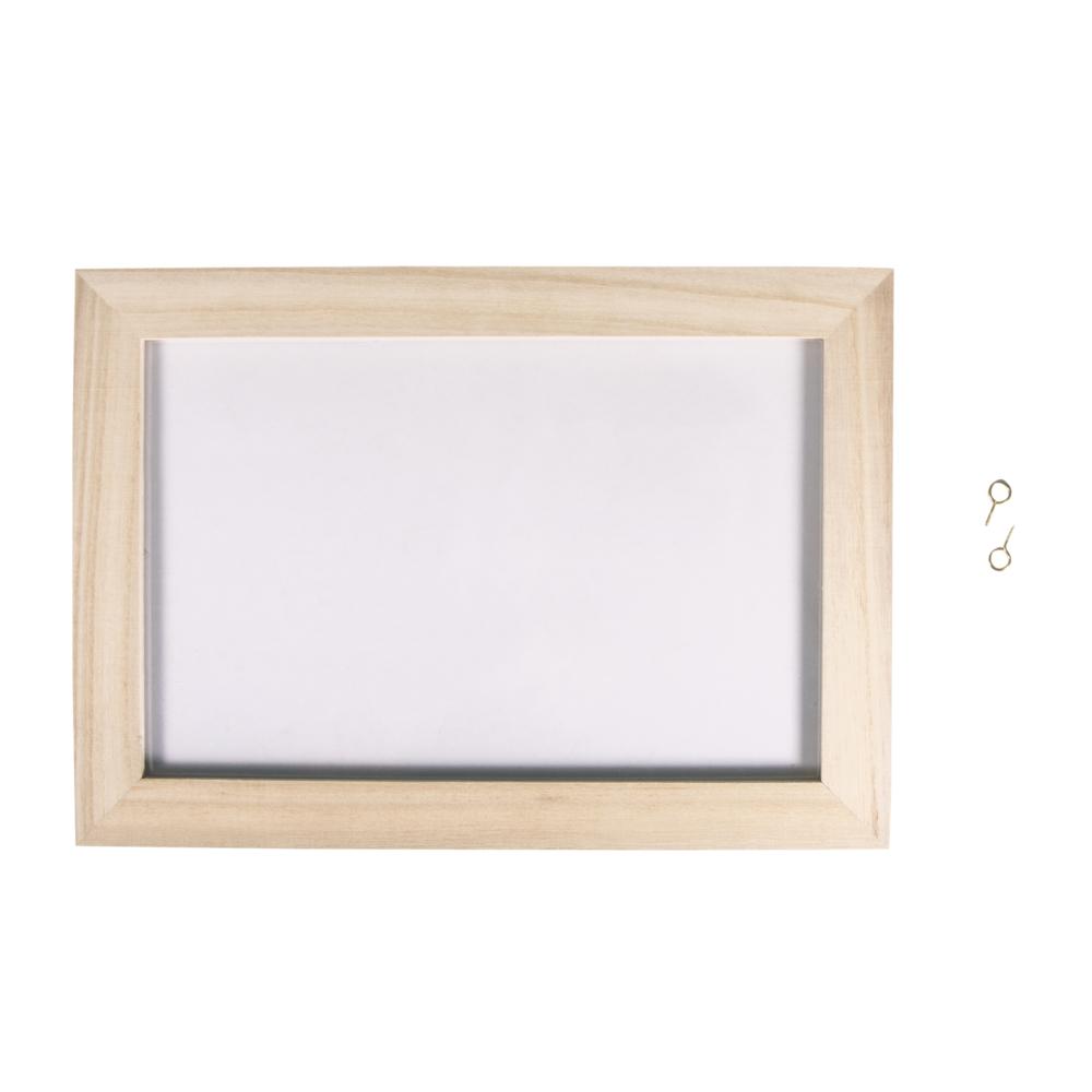 Holz-Rahmen mit Acrylglas, FSCMixCredit, 30x21x0,7cm, mit doppelt-Acrylscheibe